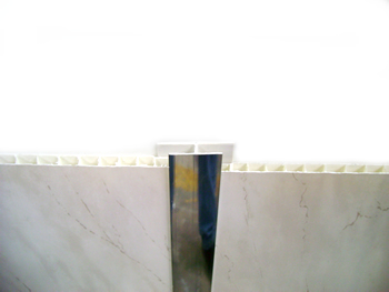 Silver H Trim for PVC Panels