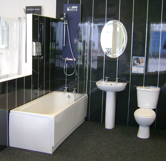 Discount PVC Cladding For Bathrooms In Black Pearl, Showers And Offices