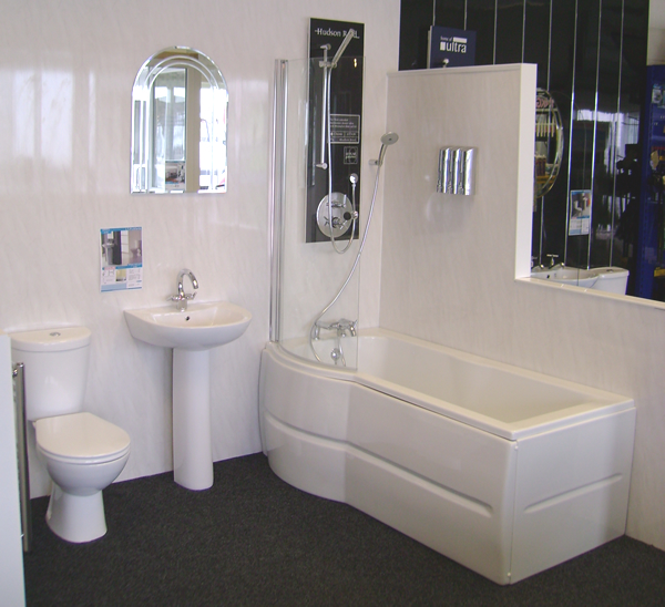 Discount PVC Cladding For Bathrooms In Grey, Showers And Offices