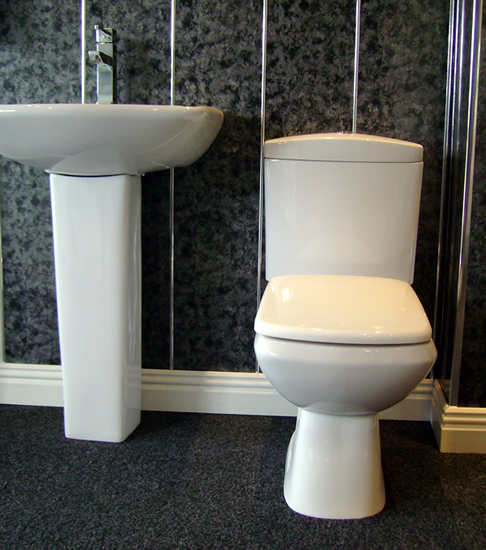 Discount PVC Cladding For Bathrooms In Silver Black, Showers And Offices
